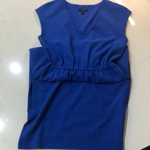 J Crew Royal Blue Cap-sleeve Midi Dress